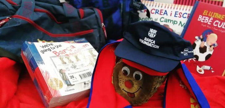 La Fundació Barça dona material de l'equip blaugrana a la FEPCCAT com a regal de Nadal pels infants i joves amb paràlisi cerebral i discapacitats similars
