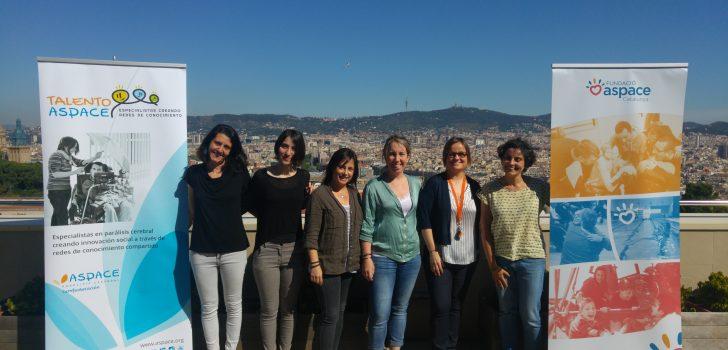 Els grups de treball sobre Comunicació Augmentativa i sobre Alimentació i Deglució del projecte Talento ASPACE tanquen el primer semestre amb una reunió a Barcelona
